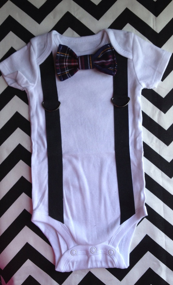 Marcuties Little Man Suspenders Amp Bowtie Onesie Shop
