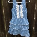 Taelir Designs for lookie boo blue white polka dot toddler swing dress